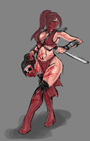 Skarlet .:commission:. by monkeydonuts246