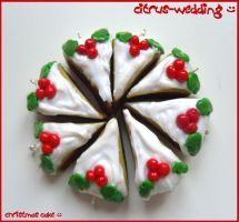 christmas cake charms :D by citruscouture