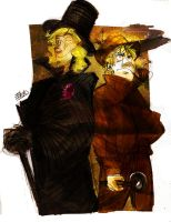 Arthur Holmes vs Francis Lupin by Ellinor87