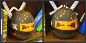 Ninja Pumpkin by GreenDayPunkGirl