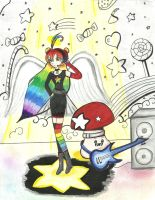 Contest: Ambre the Angel Rock Star by amolina45