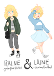 raine and laine by giraffe-tier