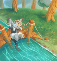 River crossing by Finchwing