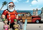 Surfin' Santa by artsavant