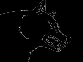 Snarling Wolf Template by DemonicFury