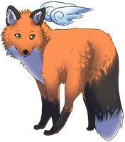 Winged Fox by jayuu
