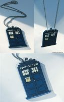 Tardis Necklace by Vlada-VRednaya