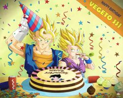 Dragon Ball - GOHAN 85 - HAPPY BIRTHDAY VEGETTO by songohanart