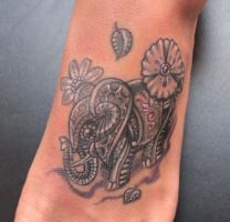 Elephant Foot Tattoo by seanspoison