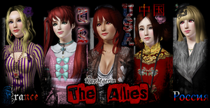 2P!Nyotalia Sims - The Allies by XxKayMaerinDevilxX