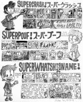 SuperCrash! - Memorable Moments (Black and White) by Josh-S26