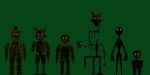 FNaF 3 Phantom Animatronics by PromtheMAn360003
