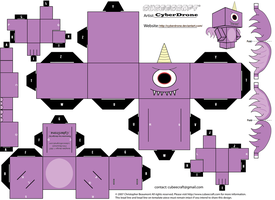 Cubee - Purple People Eater by CyberDrone