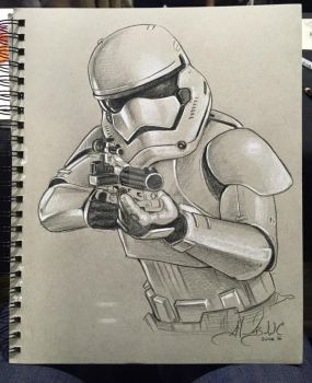 First Order Storm Trooper Sketch by AlexBuechel
