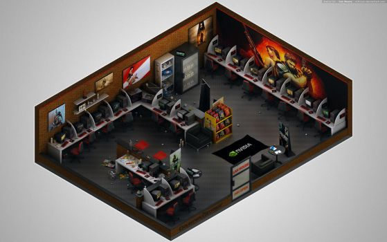 Isometric - Lan House by K3nzuS