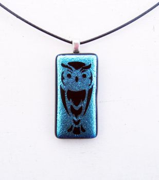 Owl Fused Glass Pendant by FusedElegance
