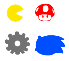 Video Game Icons Symbols by MarcosPower1996