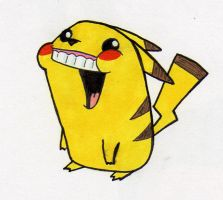 Pika-duh the challenged Pikachu by grizlyjerr