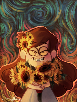 SUNFLOWERS by CherryVioletS