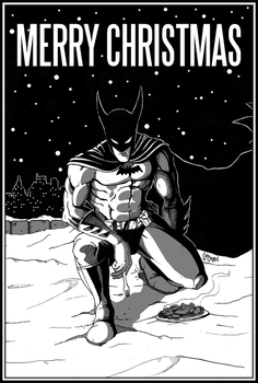 Merry Christmas from Batman by SamGreenArt