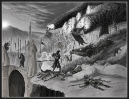 Of Turin and Glaurung by EthalenSkye