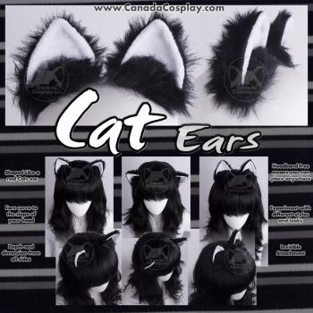 Cat Ears in Black and White by KayPikeFashion