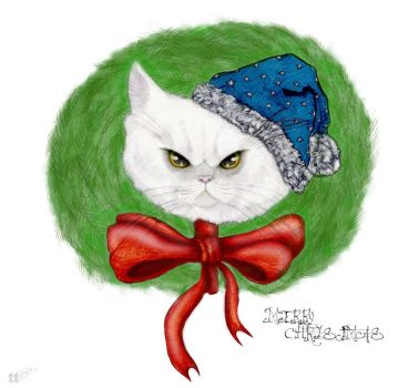 Merry christmas from grinch kitty! by TeacupTsunami
