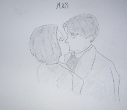 Mulder And Scully Kiss by Aprelle