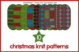 10 Christmas Knit Patterns 2 by gollygirls