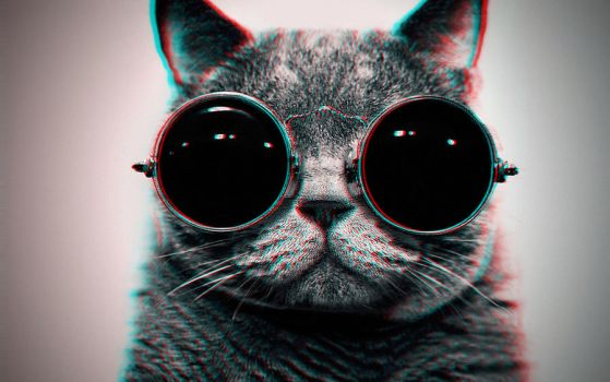 Cool Cat 3-D conversion by MVRamsey