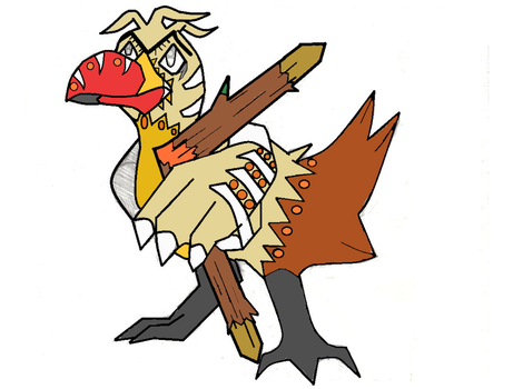 Paleo Farfetch'd colored by PerfectChaos22