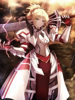 [Fate/Go]Mordred by danzaza9090