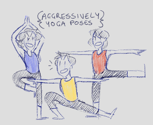 Aggressive Yoga by Turtle-Brownie