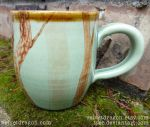 Great Horned Owl Mug, Handle and Trees Detail by tser