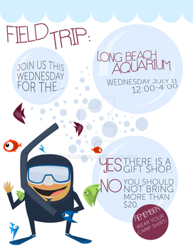 Camp Aquarium Flyer by theraggles