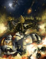 Space Marines - Brothers of the Crimson Flame by Michael-Galefire