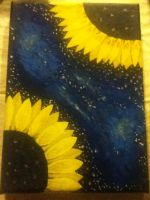 Painting Of Flowers In Space by TheUndeadDoctor