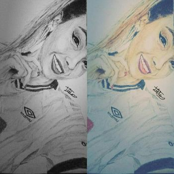 Chelsea Pencil Drawing by ZeddiXTree