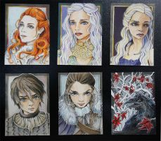 my sketch cards  abt Game of Thrones by WojikHell