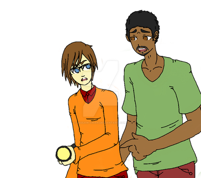 Shaggy and velma doodle by Jigsaw-Chan