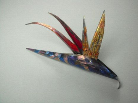 Bird Of Paradise Brooch Two by tqween