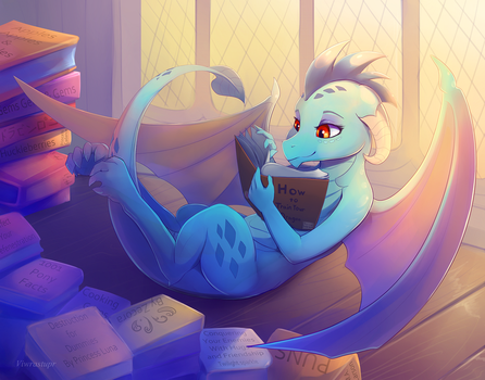 Ember - Dragons Dont Do Reading by viwrastupr