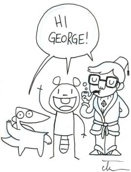 Black and White Beaver and Steve by Georgeshiers