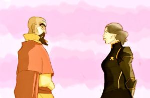 Tenzin and Lin by Rin171