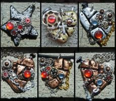 Steampunk necklaces 3 by PlacebicYue