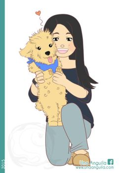 Commission Little dog and Girl by electra-gretchen