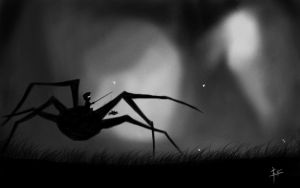 Pet spider? by z0h3