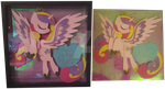 Princess Cadance Shadow Box SIGNED by Magpie-pony