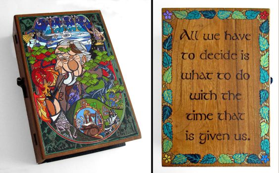 Tolkien Lord of Middle Earth- hideaway book box by RFabiano