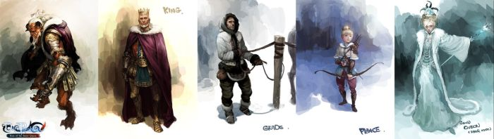 My works in Character Design by cellar-fcp